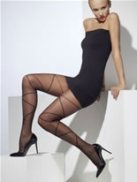 Sheer Cross and Bow Tights