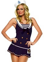 Adult Shipmate Cutie Blue Sailor Costume