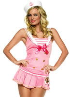 Adult Shipmate Cutie Sailor Costume Pink