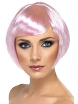 Short Bob Babe Wig Pink
