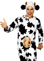 Silly Cow Costume Black And White [29115]