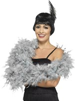 Silver Deluxe Feather Boa