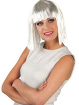 Silver/White Glamour Wig