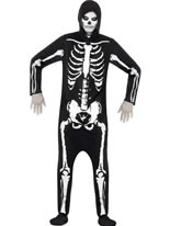 Adult Skeleton Onesie Costume [25237]