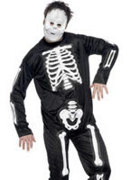 Skeleton Jumpsuit Costume [34837]