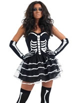 Adult Skeleton Tutu Dress Costume