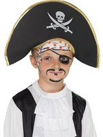 Skull And Crossbones Childrens Pirate Captains Hat [22654]