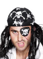 Skull And Crossbones Pirate Eye Patch