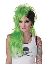 Smash Punk Green Wig