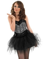 Adult Burlesque Snow Leopard Tutu Costume