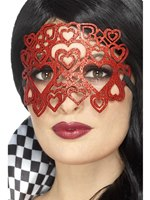 Soft Felt Heart Glitter Eyemask