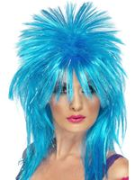 Adult Blue Sparkle Rock Diva Wig