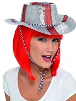 St George Cowboy Glitter Hat Pvc