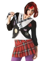 Adult St Trinians Emo School Girl Costume [889798]