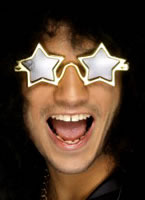 Star Shaped Superstar Specs Gold