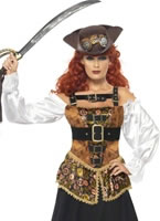 Adult Steam Punk Pirate Wench Costume [28709]