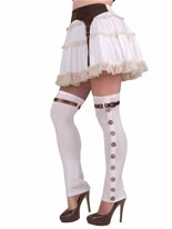 Steampunk Thigh High Ladies Spats  [66541]