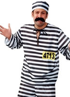 Striped Convict Costume [98136]