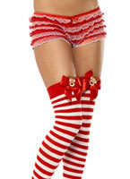 Striped Reindeer Stockings