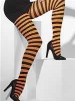 Striped Tights Orange And Black