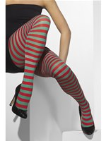 Striped Tights Red And Green