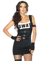 Adult Sultry SWAT Police Officer Costume