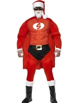 Adult Super Fit Santa Costume [36214]