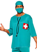 Adult Surgeons Costume Blue