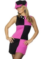 Adult Swinging 60's Costume Pink Black