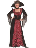 Adult Taffeta Coffin Vampiress Costume
