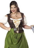 Adult Plus Size Tavern Maiden Costume