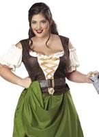 Adult Plus Size Tavern Maiden Costume [01704]