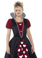 Teen Deluxe Dark Red Queen Costume [44335]