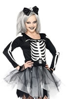 Teen Sassy Skeleton Costume [J48067]