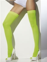 Thigh High Neon Green Stockings