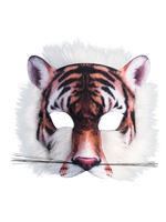 Tiger Face Mask with Fur