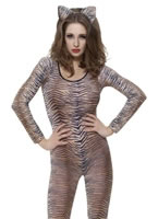 Adult Tiger Print Bodysuit