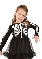 Toddler Skeleton Girl Costume