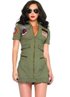 Adult Top Gun Womens Flight Dress