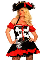 Treasure Island Temptress Pirate Costume