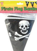 Triangle Shaped Pirate Flag Bunting [26283]
