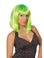Tropical Flava Green Wig