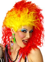 True Colours Red and Yellow Wig