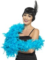 Turquoise Deluxe Feather Boa