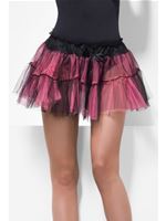 Tutu Black And Pink Net Underskirt