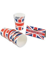 Union Jack Paper Cups (pack of 8) [PG066]