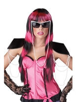 Untamed Wig Pink Striped