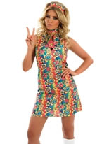 UV Floral Hippie Costume [FS2439]