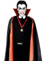 Vampire Cape Reversible Black And Red Pvc