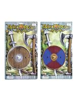 Viking Sword, Shield & Axe Set